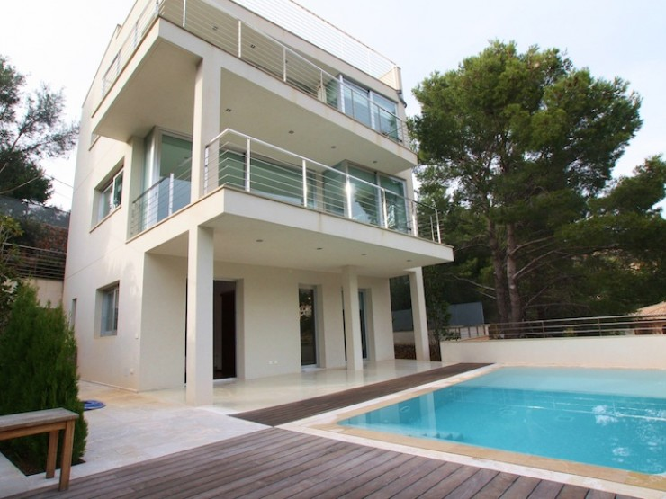 Minimalist style house with guest apartment Port of Soller.